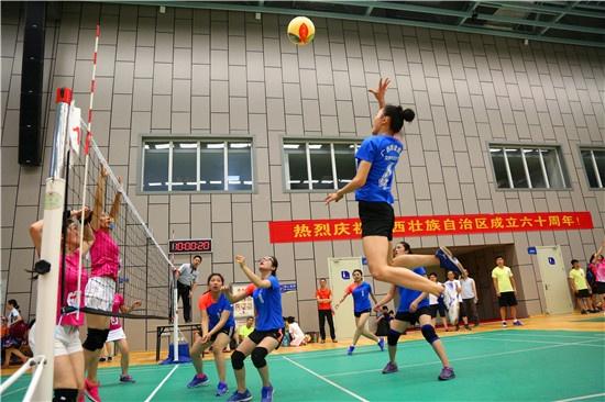 集团公司获第十六届区直气排球比赛女子组第一名