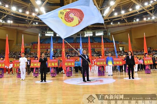 广西第十四届少数民族传统体育运动会闭幕(图)