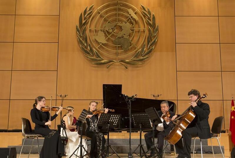 """""""中西经典""""音乐会在日内瓦万国宫举行"""