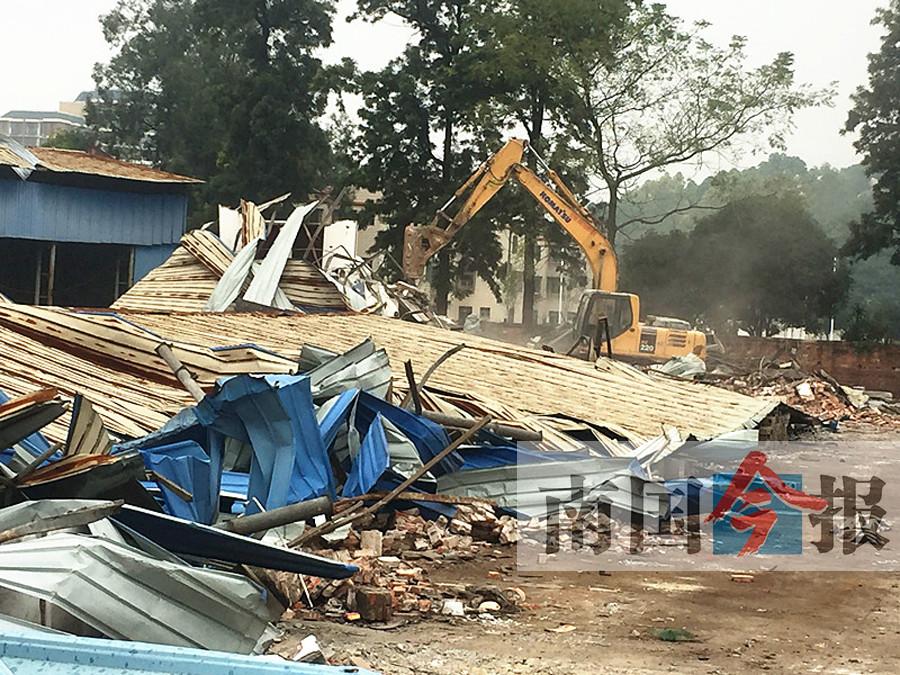 柳州一竹木交易市场被拆 涉及违建约5万多平方米