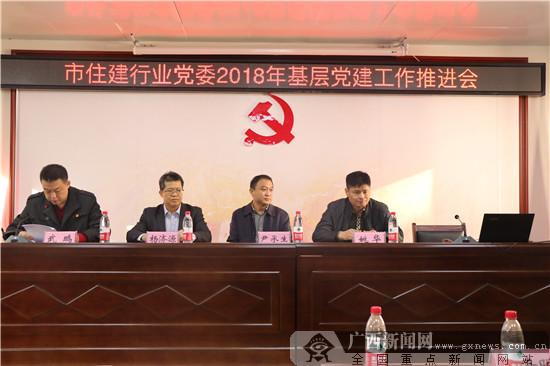南宁市住建行业党委召开2018年基层党建工作推进会