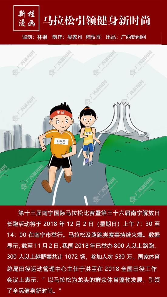 【新桂漫画】马拉松引领健身新时尚