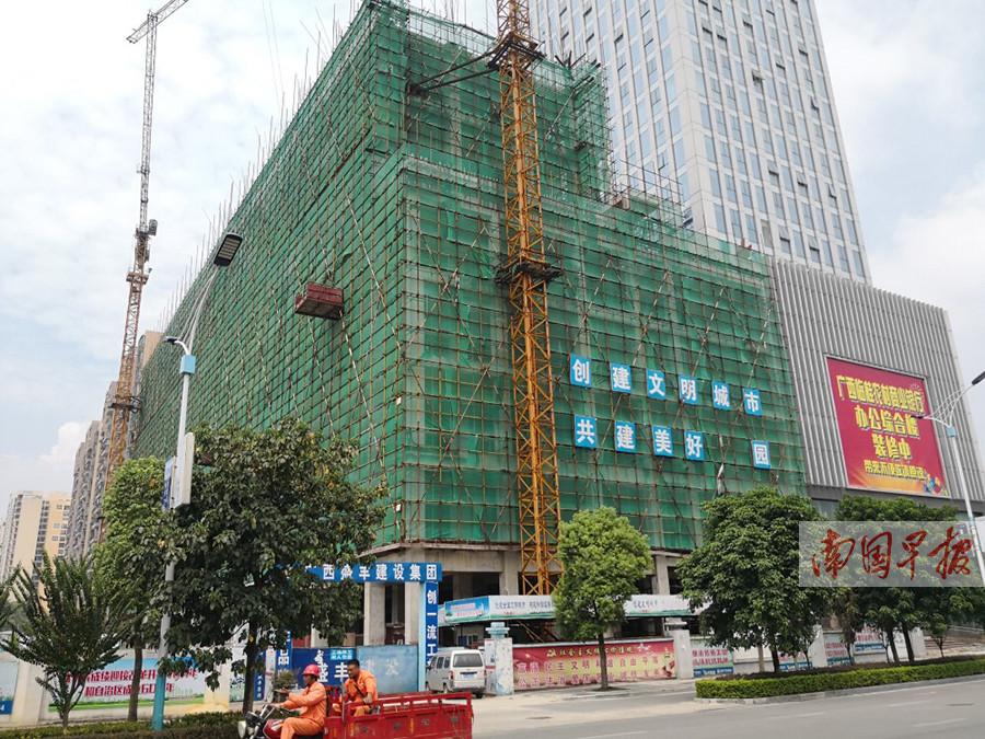 开发商拖欠工程款   桂林一小区烂尾三年多
