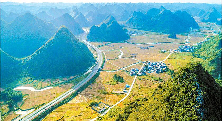 靖西至龙邦高速通车 南宁-龙邦口岸只需3个多小时