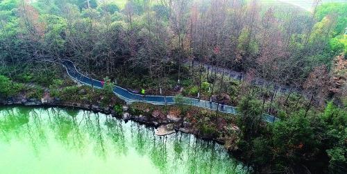 桂林首条公园健身步道  一条景观休闲健身绿道