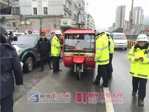 柳州持续开展五车专项整治行动 营造有序交通环境