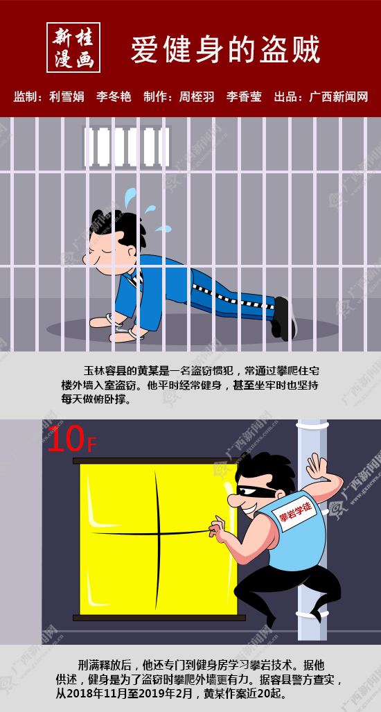 【新桂漫画】爱健身的盗贼