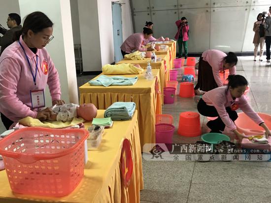 """南宁市妇女劳动技能比拼 50名个人获称""""最美邕嫂"""""""