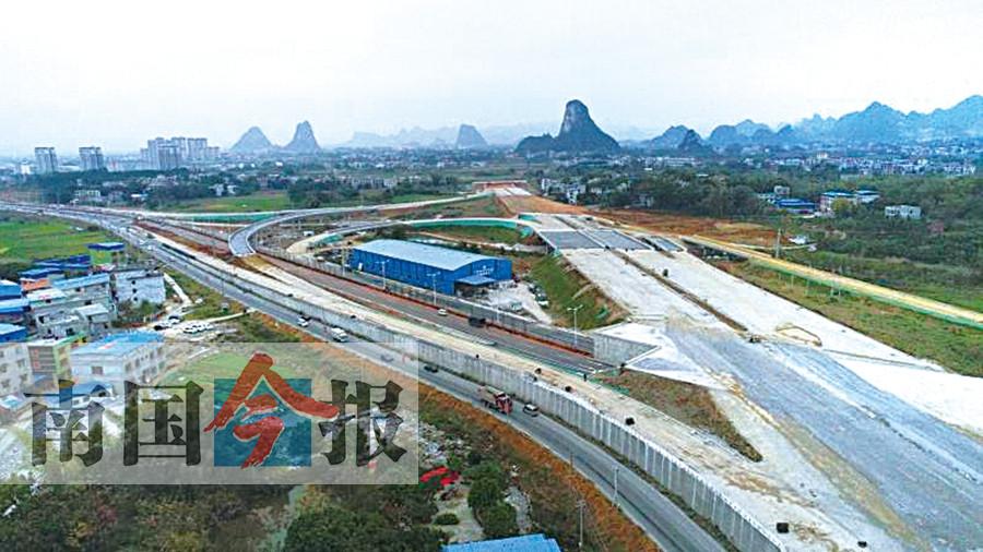 柳州西外环年底将通车 可缓解柳江区内交通拥堵