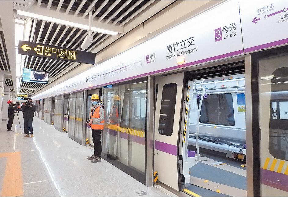 """南宁地铁3号线开始空载试跑 进入开通运营""""倒计时"""""""