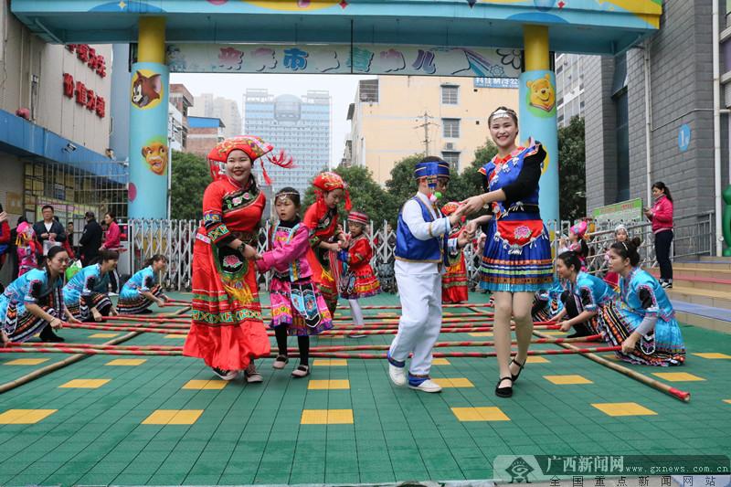"""来宾启慧幼儿园:歌声唱响""""壮族三月三"""" 舞姿传递民族情"""