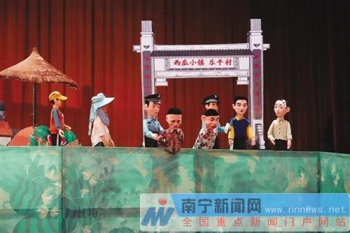 木偶剧进校园   生动宣传扫黑除恶专项斗争(图)