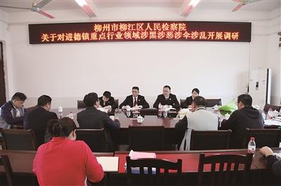 柳州市柳江区检察院向黑恶势力亮剑综述(图)