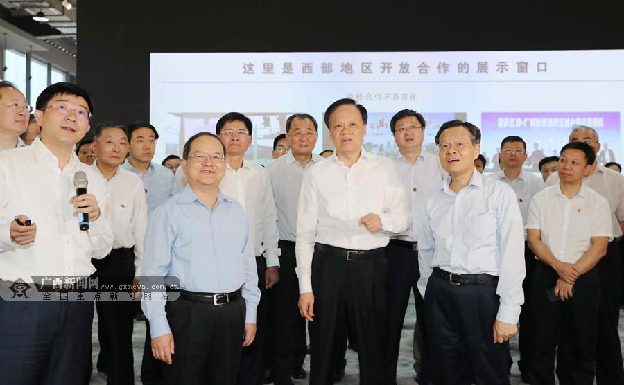 鹿心社陈武率广西党政代表团赴重庆学习考察