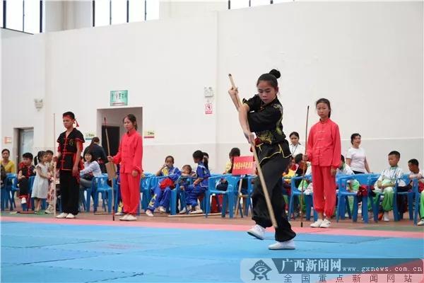 来宾市武术散打锦标赛暨广西区运会选拔赛开幕