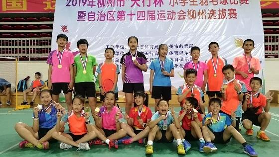 柳州:小学生羽毛球比赛精彩纷呈 537名小学生参赛