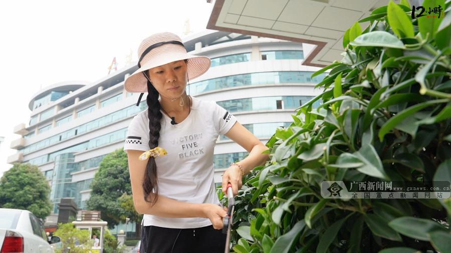 【12小时】日行200公里维护300余盆绿植 花工李安丽:很幸福