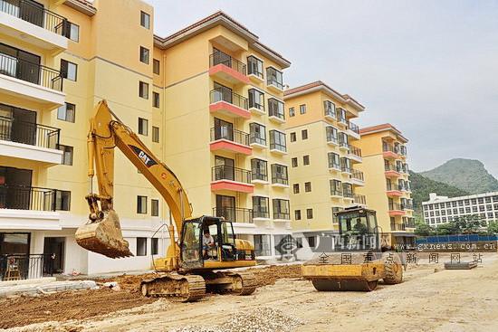 大化拿银安置区新建26栋易地扶贫搬迁楼将交房