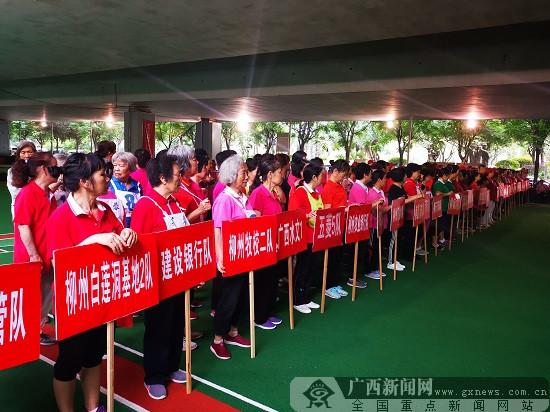 老少挥杆乐 2019年柳州市家庭系列门球赛开幕