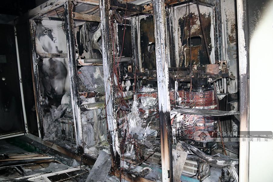 田东电厂一电子设备起火 消防成功扑救
