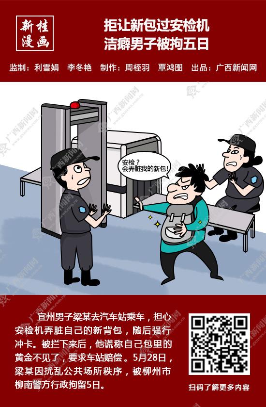 【新桂漫��】拒�新包�^安�z�C ��癖男子被拘五日