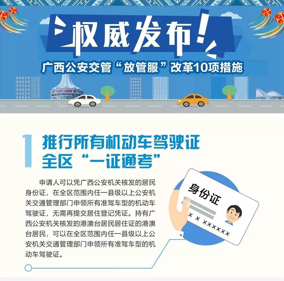 """南宁落地交管""""放管服""""改革新10项便民利民措施"""