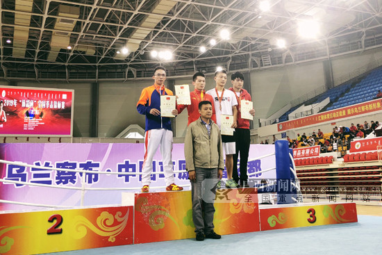 全国拳击锦标赛第二站:广西李文记负伤作战获银牌