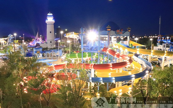广西超大型水上乐园威尼斯人网站克里湾水乐园盛大开园