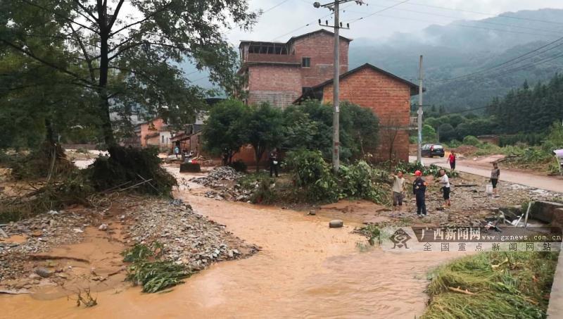 桂林多地遭遇暴雨 供电部门全力抢修因灾受损线路