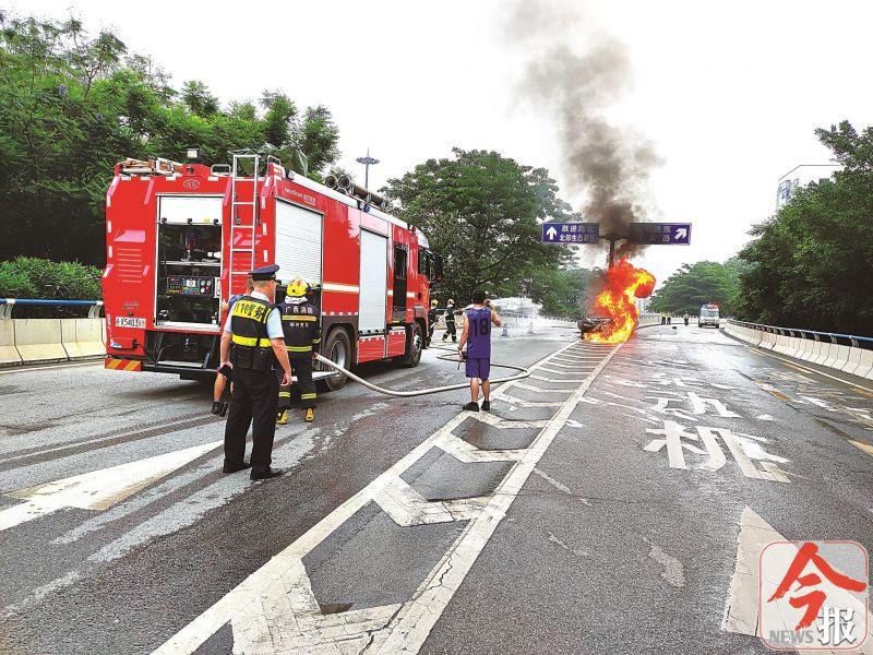 柳州胜利立交桥车祸调查:被烧身亡司机涉嫌醉驾