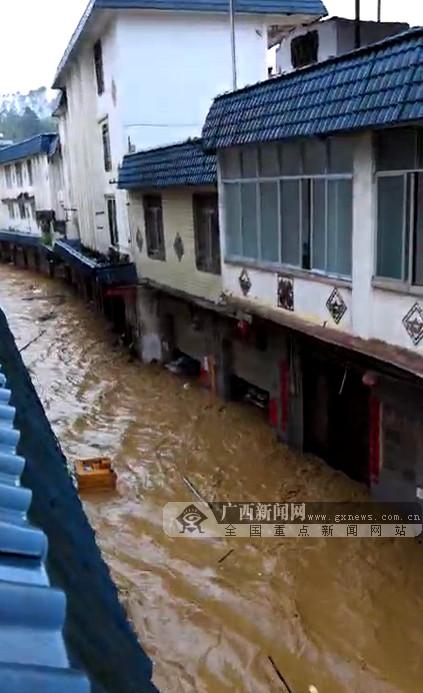 梧州苍梧县多个乡镇受暴雨袭击发生洪涝灾害(图)