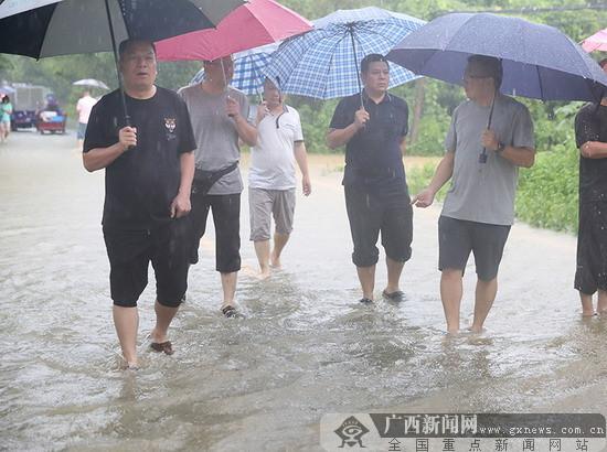 农行桂林分行党委靠前指挥抗洪抢险