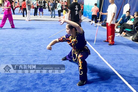 广西体校武术队参加二青会武术套路决赛 获1银3铜