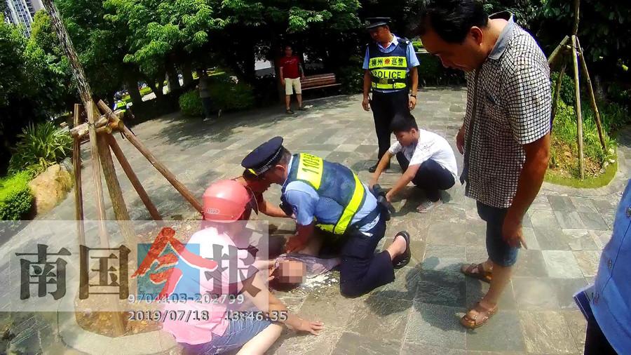 男童失足落入柳州天山公园人工湖 救起后昏迷不醒