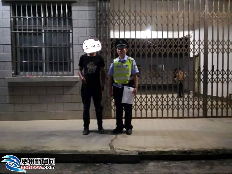 男子从广东骑行回家半路晕倒 获贺州警察伸出援手