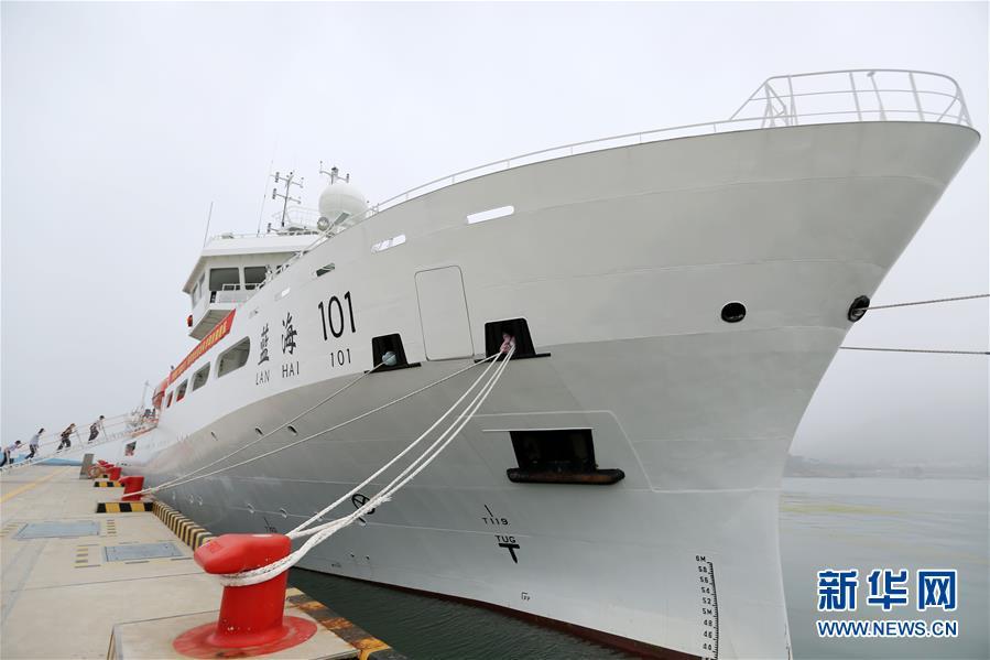 """""""蓝海101""""号首航执行国家基金委渤黄海共享航"""