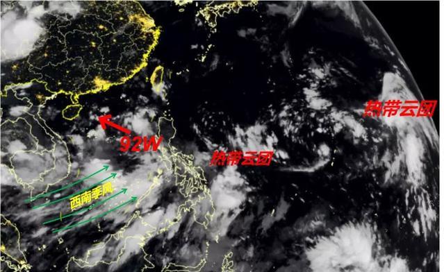 """7号台风""""韦帕""""正在酝酿!强于4号台风木恩,路径指向广东、海南!将影响北部湾和桂南"""