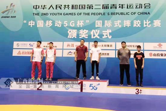 广西队参加二青会古典式摔跤决赛 收获1金1银1铜