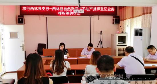 农行西林县支行举行不动产抵押登记业务授权签约仪式