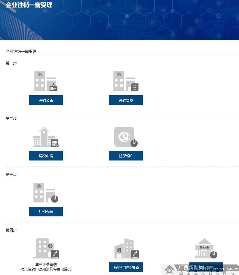 """广西数字政务一体化平台企业注销""""一网""""服务专区上线运行"""