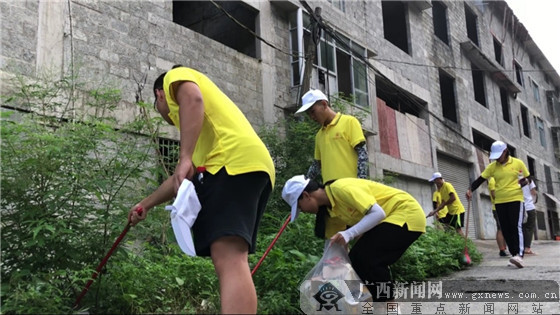 """大学生志愿者暑期""""三下乡""""以实际行动建设壮美广西"""