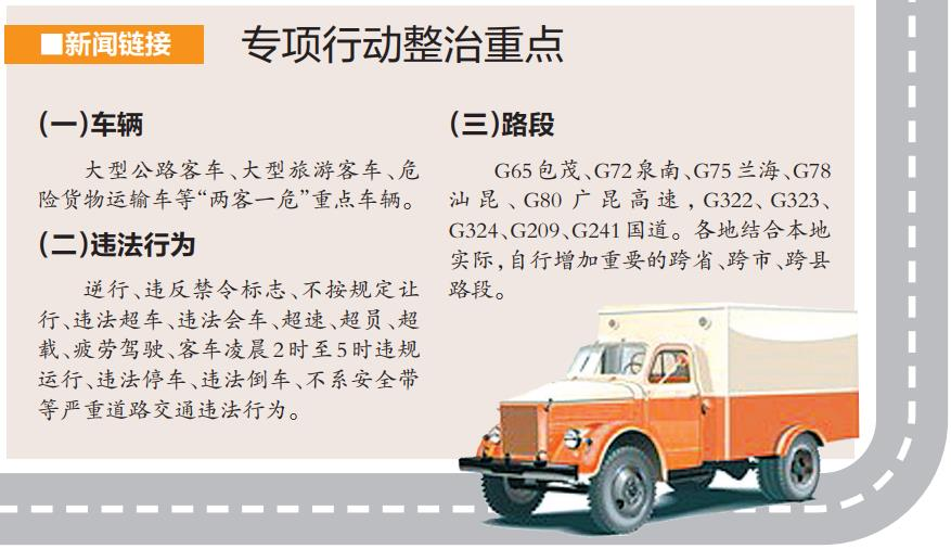 广西严查客车违法超车会车等行为 整治时间一个月