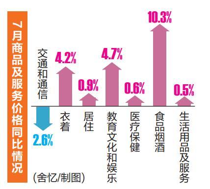7月份南宁市CPI同比上涨3.9% 暑假经济效应突出