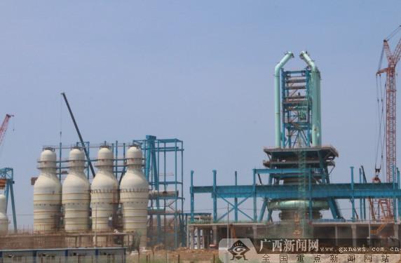 柳钢防城港基地项目建设火热进行(图)