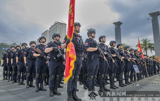 桂林公安局舉行新中國成立70周年大慶安保誓師大會