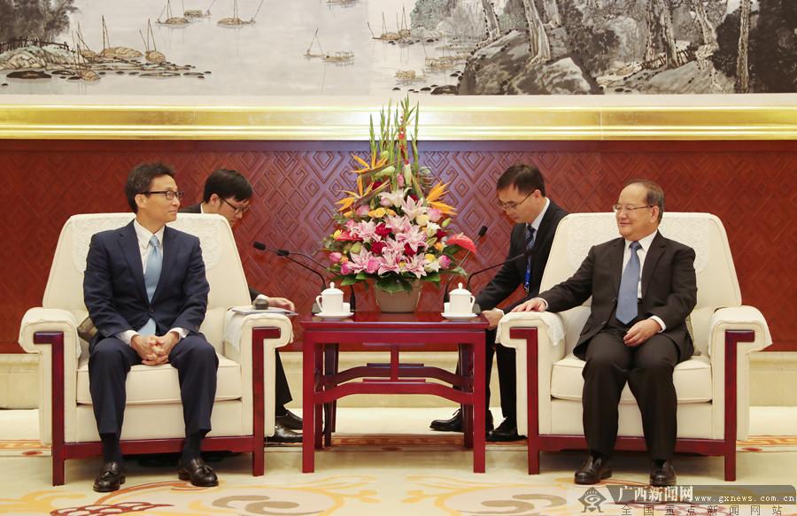 鹿心社陈武分别会见出席第十六届东博会的各国政要