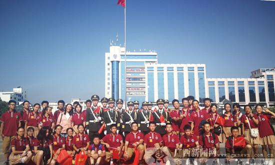 桂林旅游学院师生参加19个全民国防教育日活动