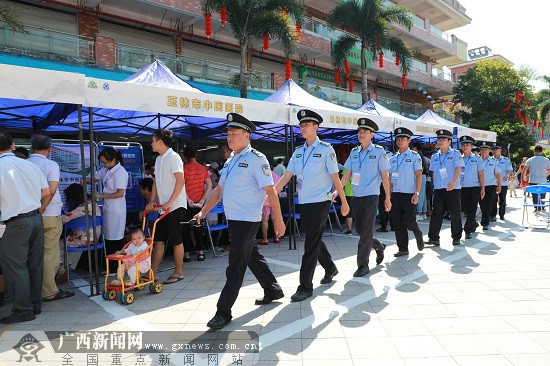 """玉林警方全力确保""""两会一节""""平安"""
