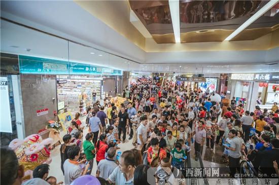 百色龙旺爱琴海购物公园开业双日客流30万人次