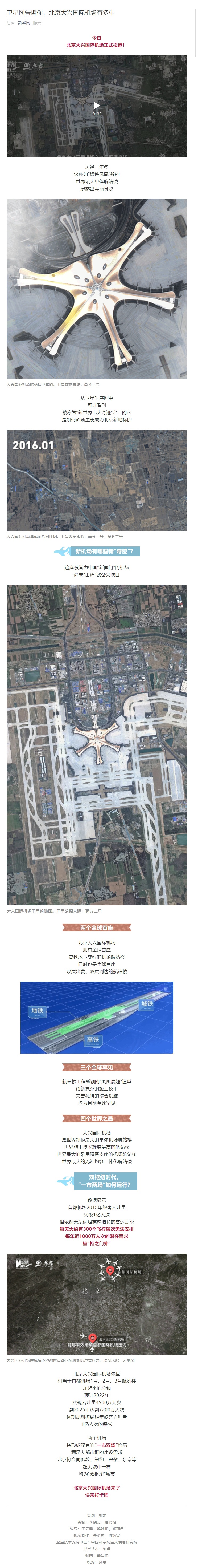 卫星图告诉你,北京大兴国际机场有多牛